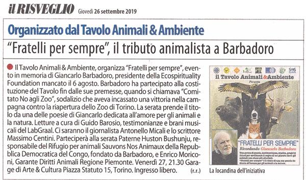 Il-Risveglio-26-09-2019-Fratelli-per-Sempre-Tributo-Tavolo-Animali-Ambiente-Giancarlo-Barbadoro