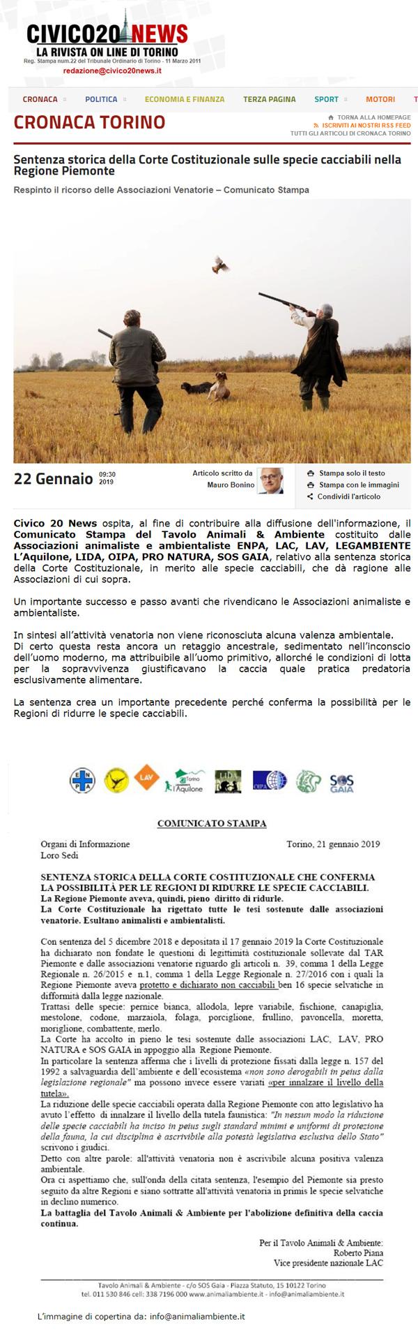 civico20-news-22-01-2019-corte-costituzionale-specie-cacciabili