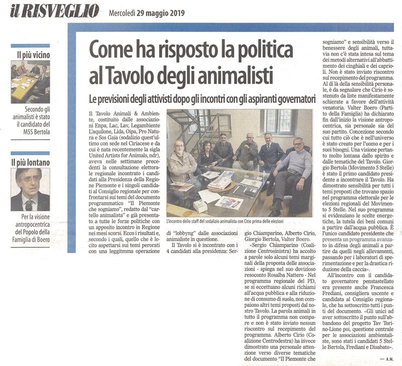 il-risveglio-29-05-2019-tavolo-animali-ambiente