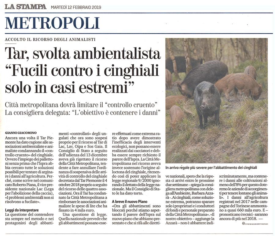la-stampa-12-02-2019-tar-cinghiali